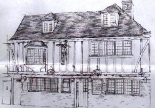 Drawing of the pub